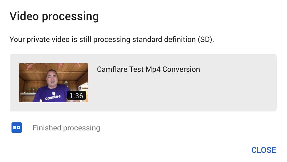 Webm processing on YouTube